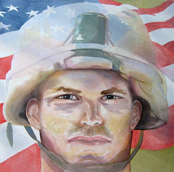 Any Soldier a Watercolor Painting by J. L. Fleckenstein